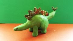 Как слепить динозавра Стегозавра  для детей