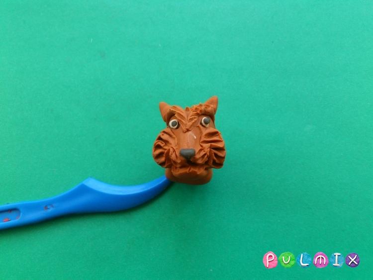 Как слепить тигра из пластилина поэтапно - шаг 10