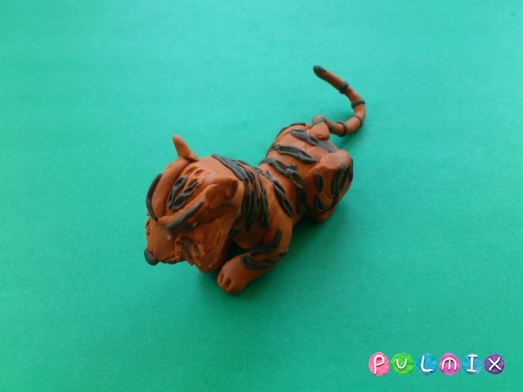 Как слепить тигра из пластилина поэтапно - шаг 13