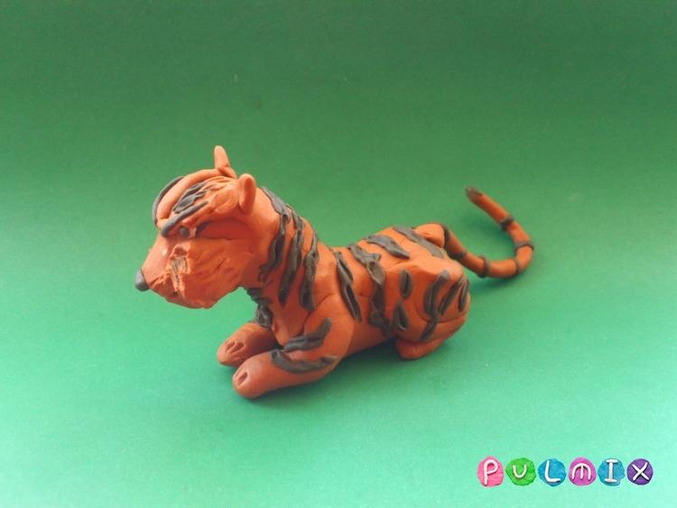 Как слепить тигра из пластилина поэтапно - шаг 14
