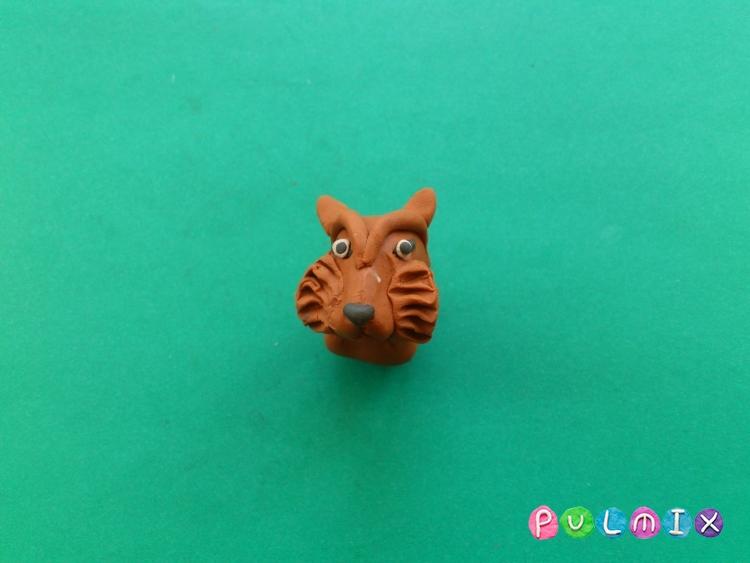 Как слепить тигра из пластилина поэтапно - шаг 9