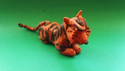 Как слепить тигра из пластилина поэтапно