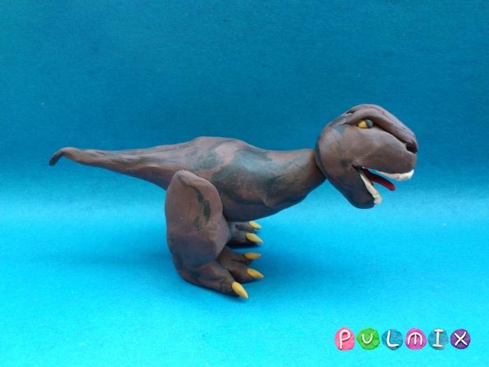 Как слепить Тираннозавра из пластилина поэтапный урок - шаг 10