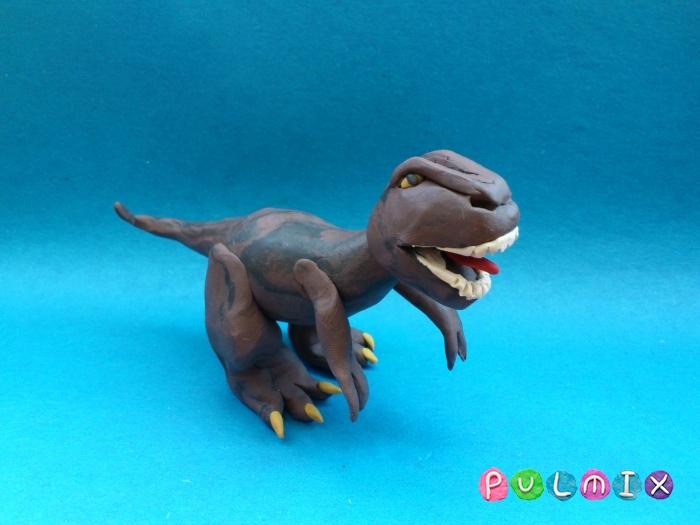 Как слепить Тираннозавра из пластилина поэтапный урок - шаг 11