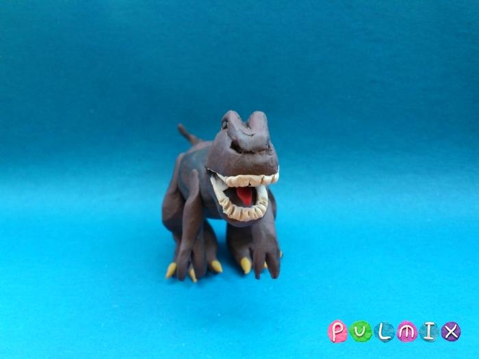Как слепить Тираннозавра из пластилина поэтапный урок - шаг 12