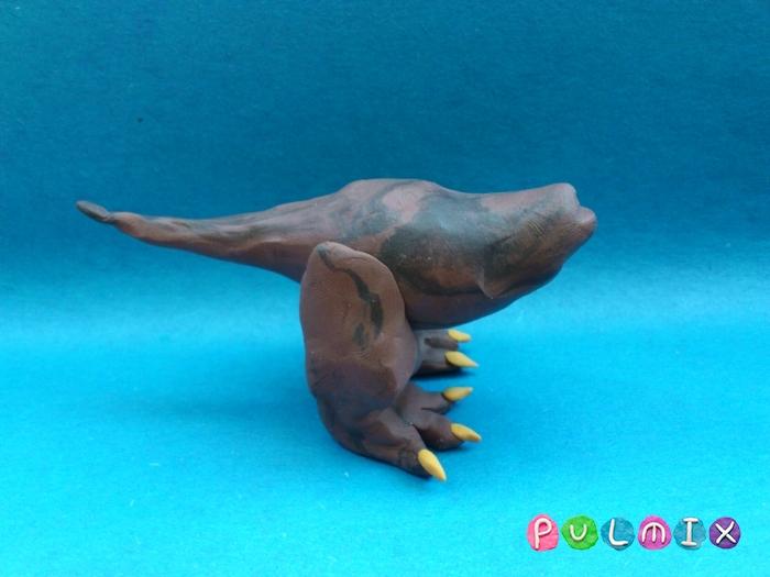 Как слепить Тираннозавра из пластилина поэтапный урок - шаг 9