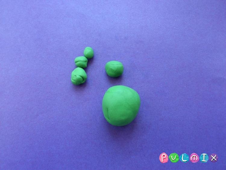 Как слепить ящерицу из пластилина поэтапно - шаг 2