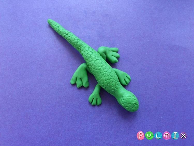 Как слепить ящерицу из пластилина поэтапно - шаг 7
