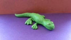 Как слепить ящерицу из пластилина своими руками поэтапно
