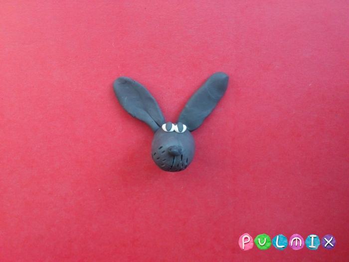 Как слепить зайца из пластилина поэтапно - шаг 4