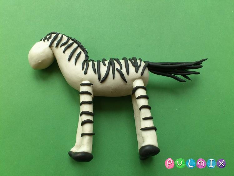 Как слепить зебру из пластилина поэтапно - шаг 11