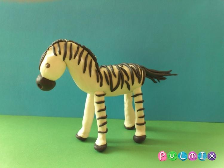Как слепить зебру из пластилина поэтапно - шаг 13
