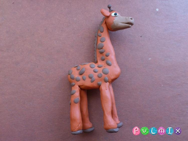 Как слепить жирафа из пластилина поэтапно - шаг 10