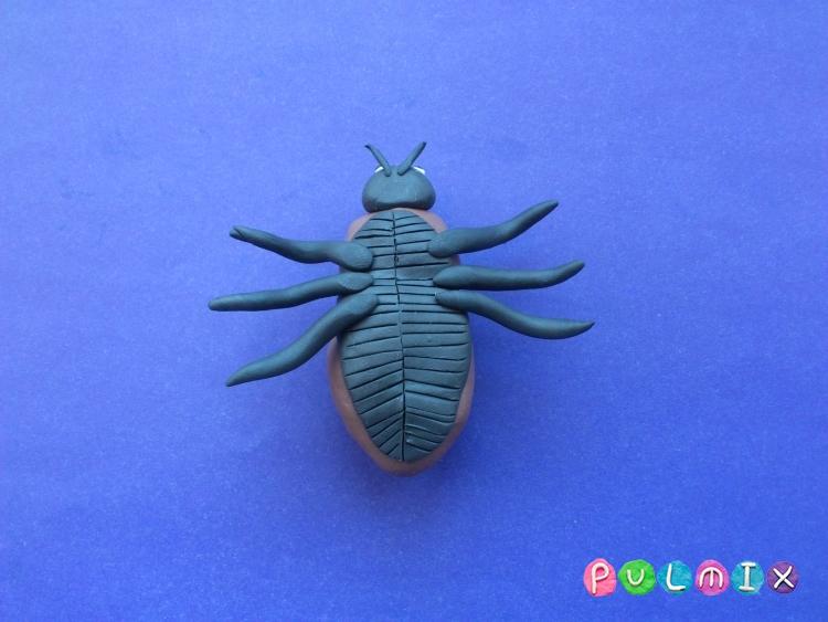 Как слепить жука из пластилина поэтапно - шаг 8