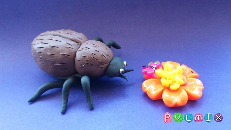 Как слепить жука из пластилина поэтапно