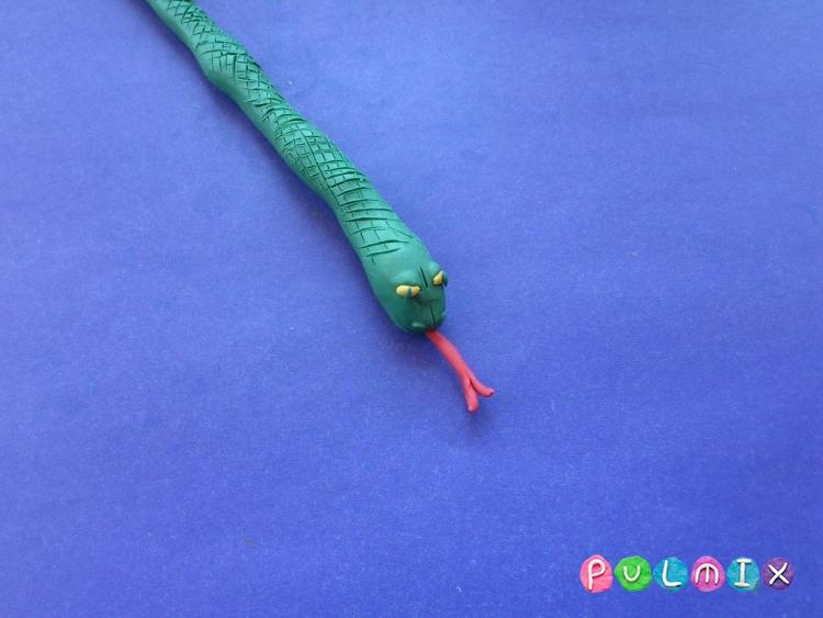 Как слепить змею из пластилина поэтапно - шаг 6