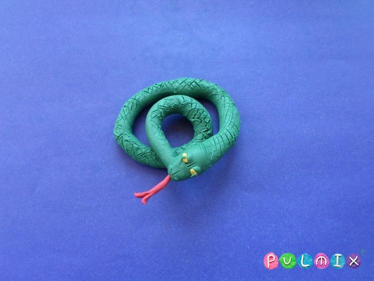 Как слепить змею из пластилина поэтапно - шаг 7