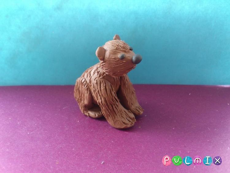 Лепим маленького медвежонка из пластилина поэтапно - шаг 10