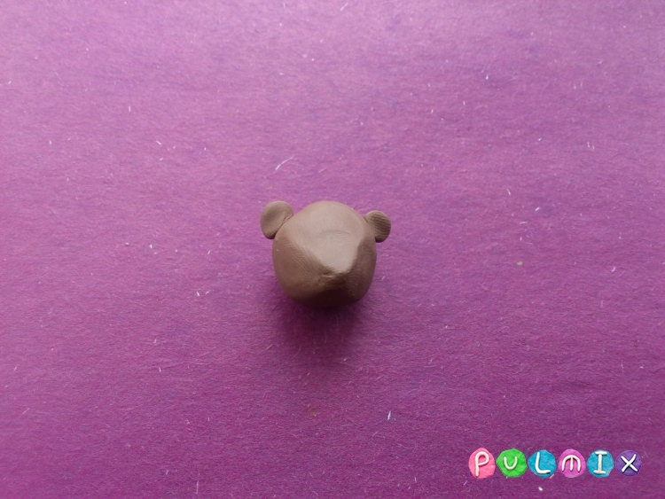 Лепим маленького медвежонка из пластилина поэтапно - шаг 2