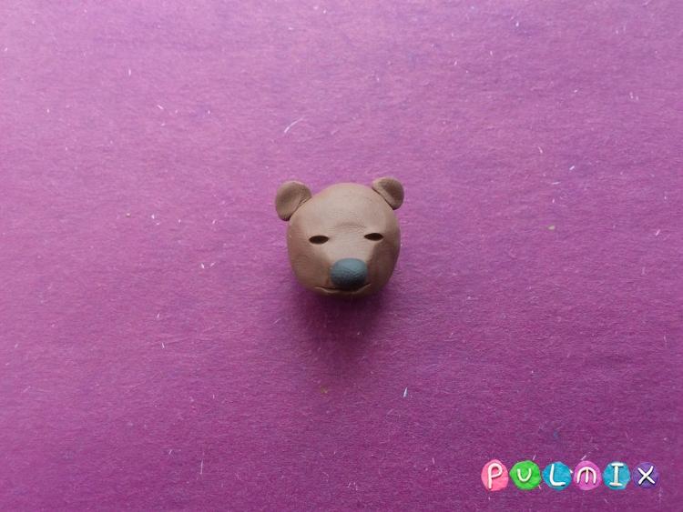 Лепим маленького медвежонка из пластилина поэтапно - шаг 3
