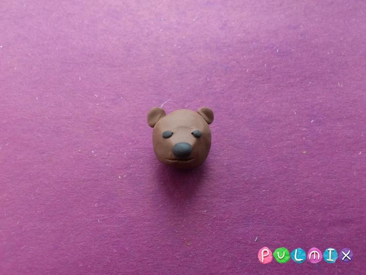 Лепим маленького медвежонка из пластилина поэтапно - шаг 4