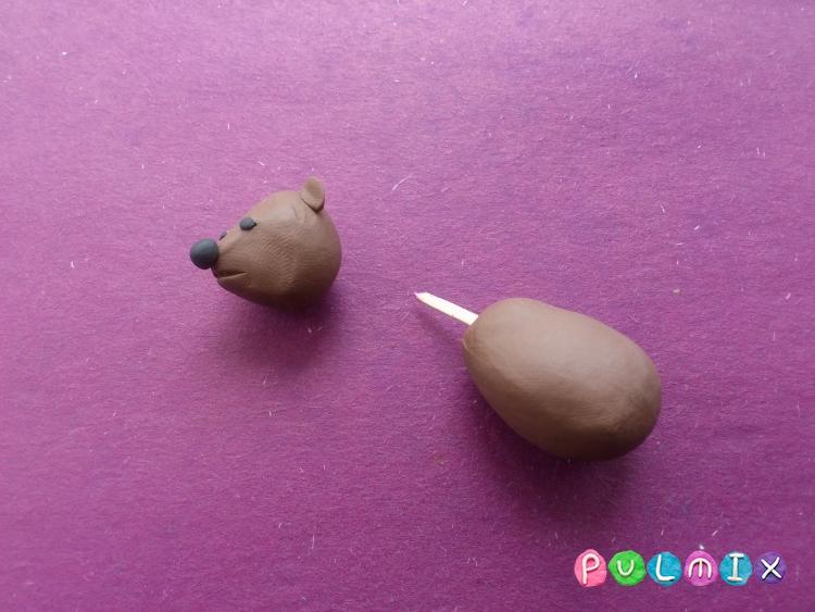 Лепим маленького медвежонка из пластилина поэтапно - шаг 5
