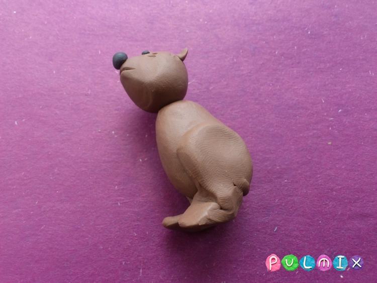 Лепим маленького медвежонка из пластилина поэтапно - шаг 7