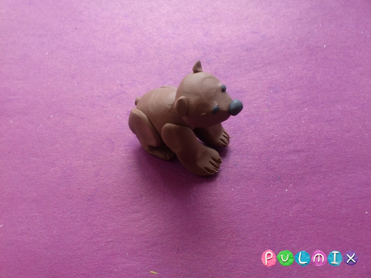 Лепим маленького медвежонка из пластилина поэтапно - шаг 8