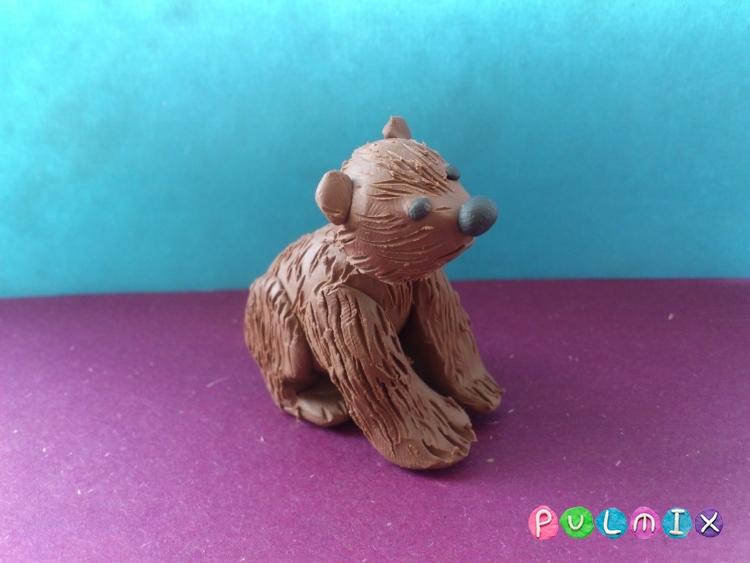 Лепим маленького медвежонка из пластилина поэтапно - шаг 9