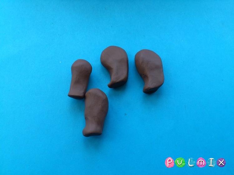 Лепим медведя из пластилина своими руками поэтапно - шаг 4
