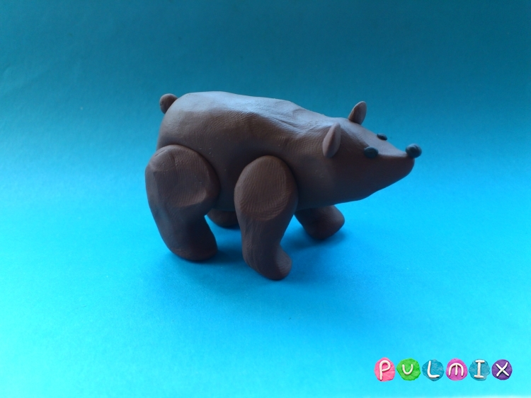 Лепим медведя из пластилина своими руками поэтапно - шаг 8