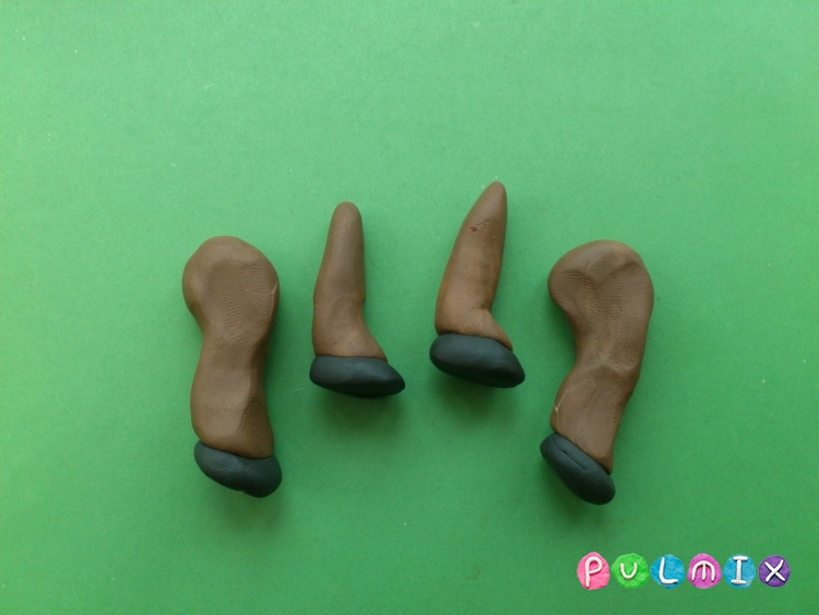 Лепим ослика из пластилина своими руками поэтапно - шаг 9