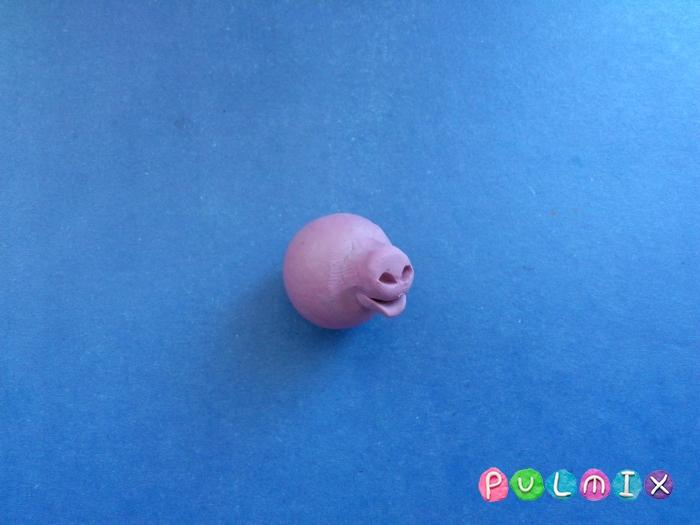 Лепим свинку из пластилина поэтапно - шаг 3