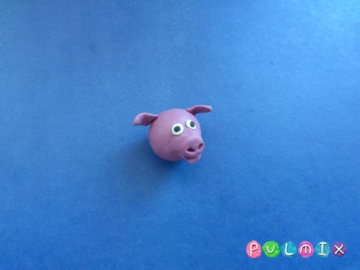Лепим свинку из пластилина поэтапно - шаг 4