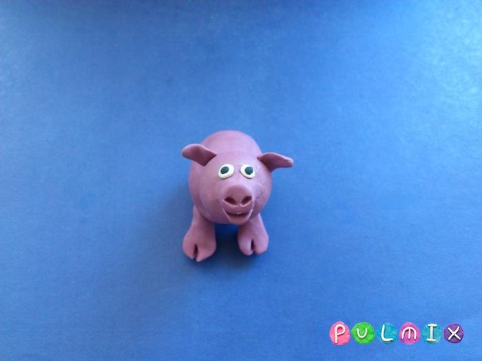 Лепим свинку из пластилина поэтапно - шаг 6