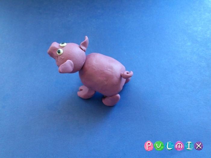 Лепим свинку из пластилина поэтапно - шаг 7