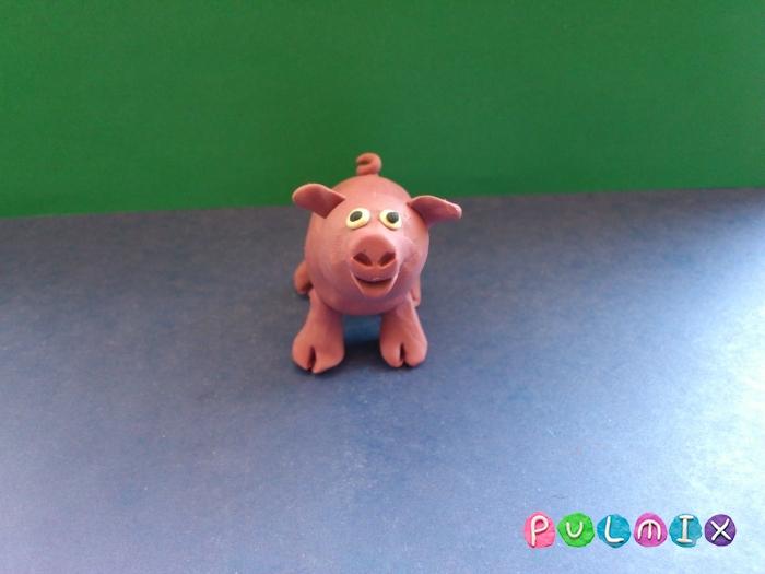 Лепим свинку из пластилина поэтапно - шаг 8