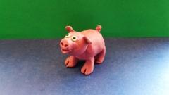 Как слепить свинку  для детей