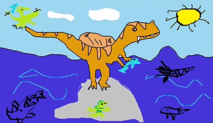 Лепим динозавра Трицератопса из пластилина