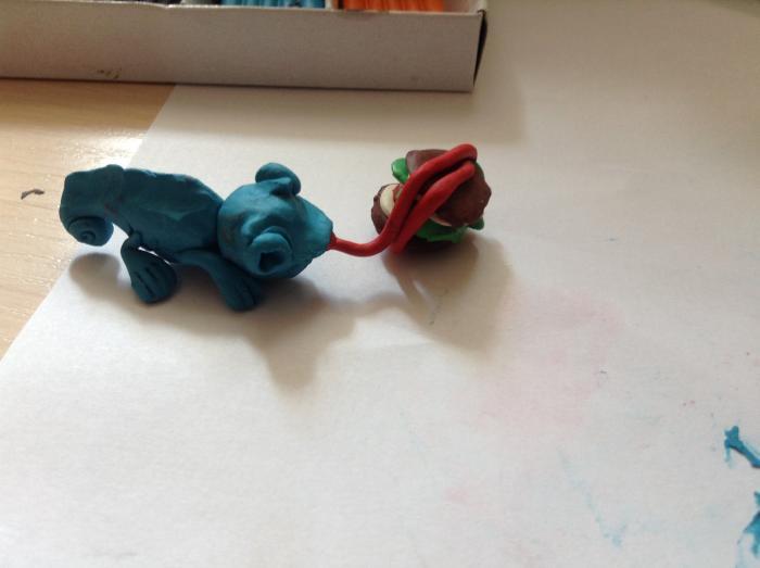 Как слепить хамелеона из пластилина своими руками поэтапно