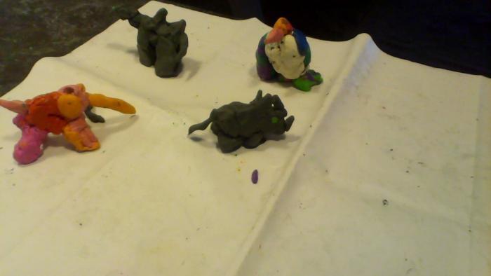 Как слепить носорога из пластилина своими руками поэтапно