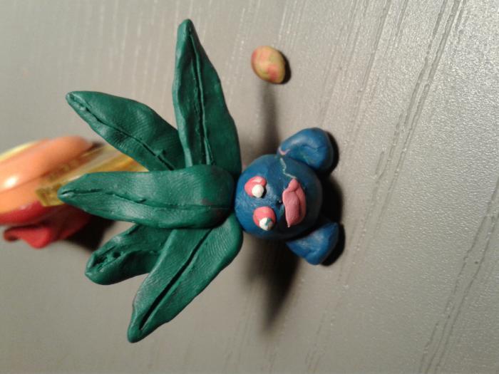 Лепка покемона Оддиша из пластилина своими руками поэтапно