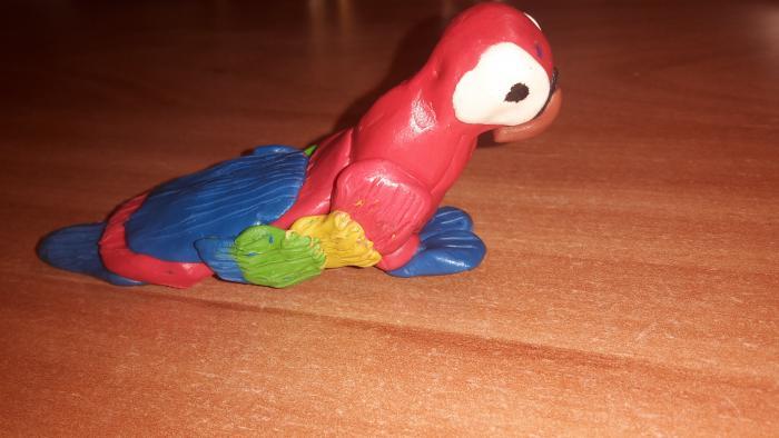 Как сделать попугая из пластилина своими руками