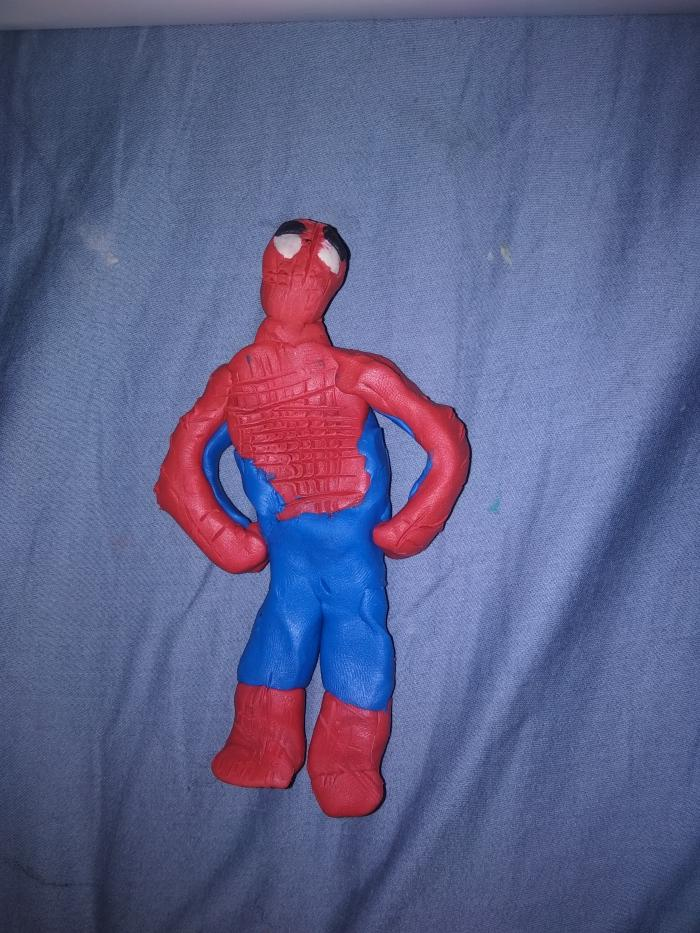 Как сделать из пластилина человека-паука