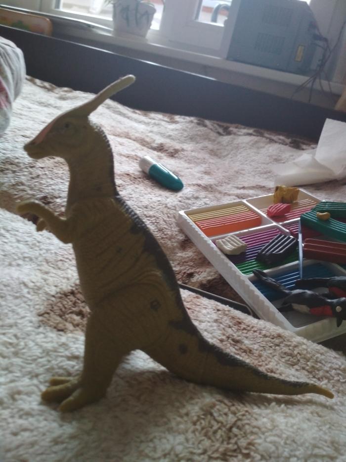 Как слепить динозавтра гадрозавра из пластилина