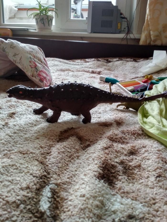 Как слепить динозавра Анкилозавра из пластилина для детей