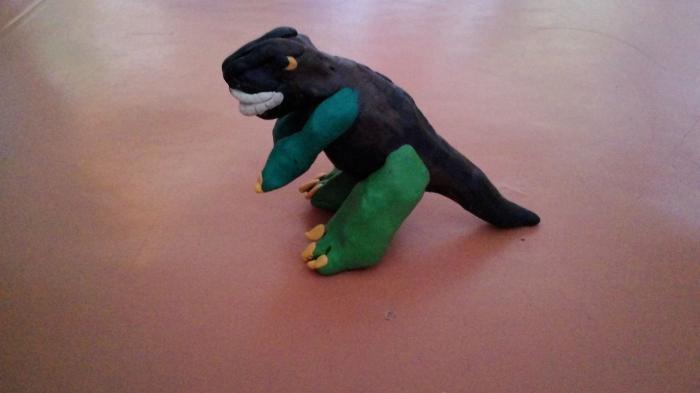 Лепим Тираннозавра из пластилина