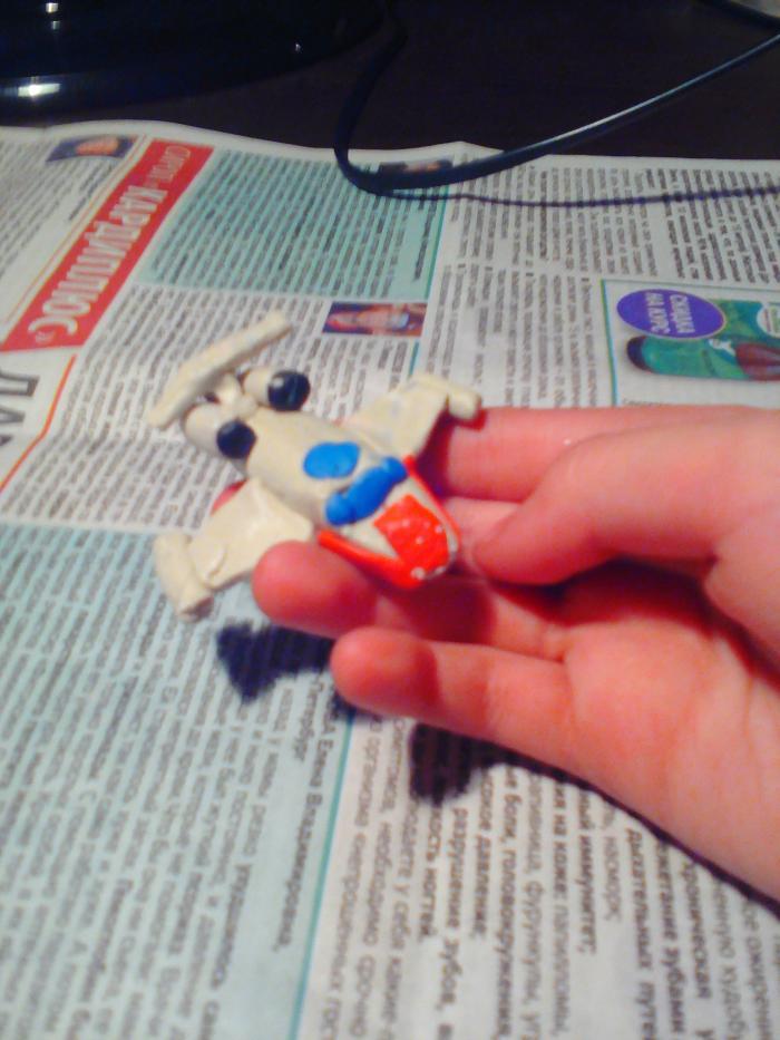 Как слепить из пластилина игрушечный самолетик своими руками поэтапно