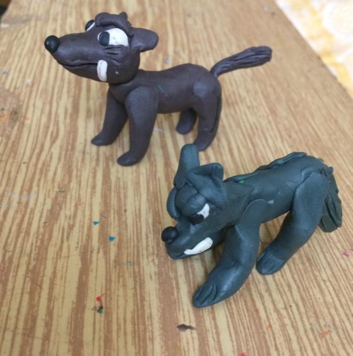 Как сделать волка из пластилина своими руками